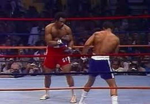 George Foreman used powerful uppercuts to turn Kenny Norton's lights out.