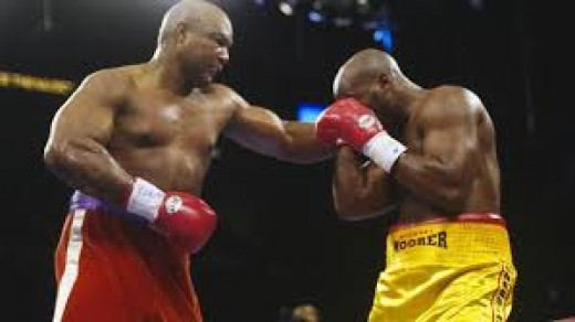 George Foreman flattened Michael Moorer in the 10th round to secure the win. Foreman lost the previous 9 rounds.