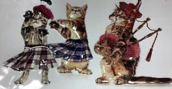 The Feuding of the Scottish Cat Clans in kilts