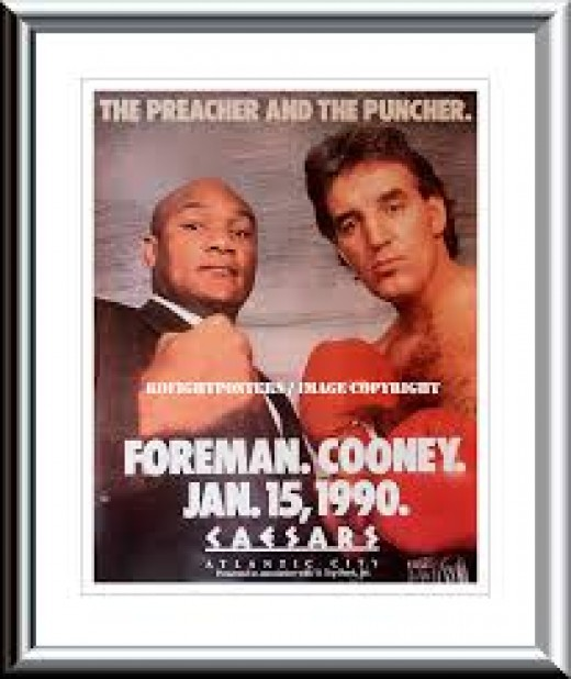 Former title challenger Gerry Cooney was supposed to give Foreman a stern test. Instead, Foreman destroyed Cooney with painful bombs.