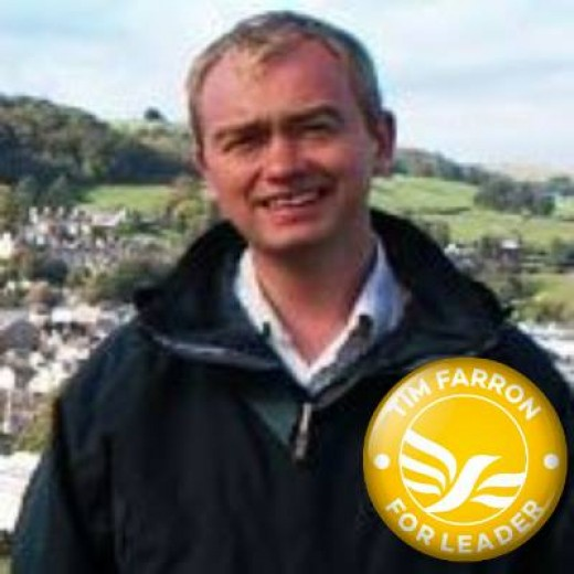 Tim Farron running for Lib Dem leadership complete with emblem
