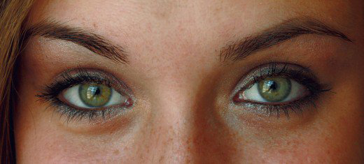 Green Rarity eyes woman with asian