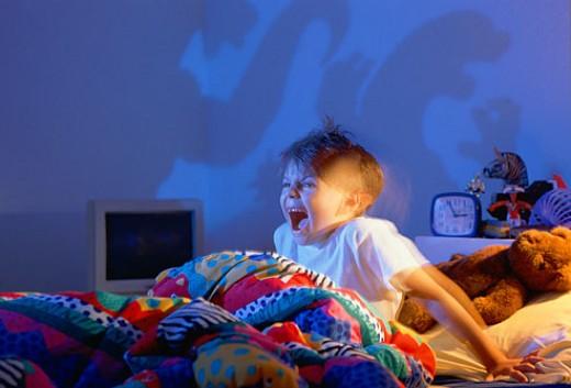 Sleep terror- the person shouts in his sleep .