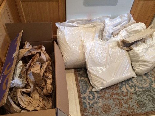 I sorted all of the packaging to be properly recycled. I also saved some of the material to use for my own packaging/packing needs.