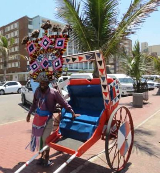 Rickshaw Ride along the Beachfront, Durban, South Africa
