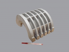 Investment casted oil field pipe clamp