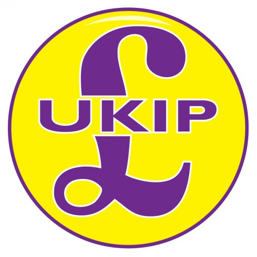 Emblem of UKIP and their leader Paul Nuttall