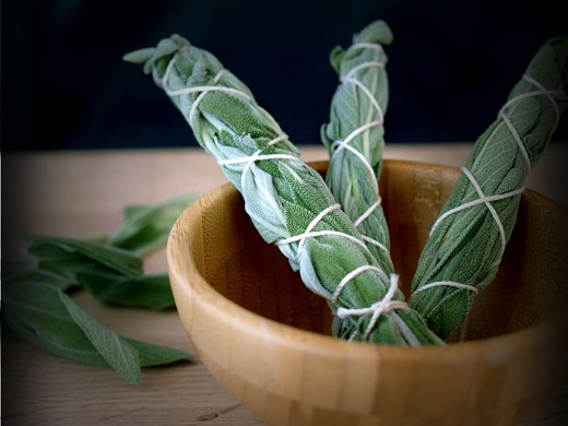 """Smudging"" with sage is one of the oldest and simplest methods of clearing out negative energy from a room or home."