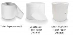Toilet Paper vs Moist Flushable Toilet Paper Roll