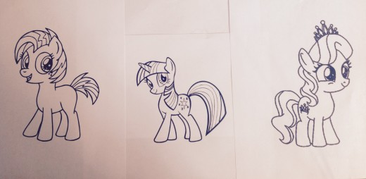 Have some fun. Color these cute little ponies.