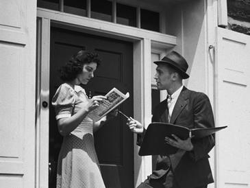 1950's door-to-door salesmen knew how to make money quick by going one-on-one by the front door.