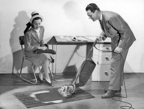 In-home demonstrations were the rage when it came to selling vacuum's to electric shavers.
