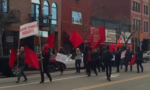 Socialists take to the streets.