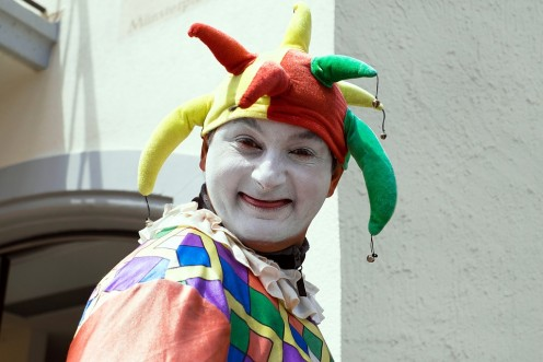 Court jester, really an important job.