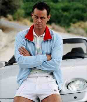 Danny Dyer in sky blue Dallas Sergio Tacchini track top