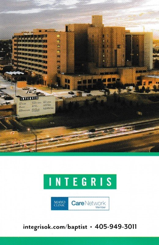 This is an image of the Integris Baptist Medical Center where Doctor Allen R. Molloy and Doctor Abbas Raza work.