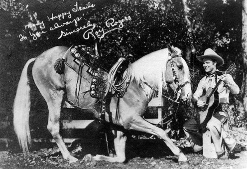 Publicity photo of Roy Rogers and Trigger.