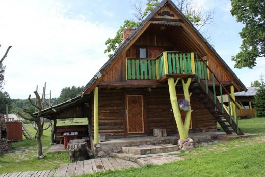 Wood house siding.
