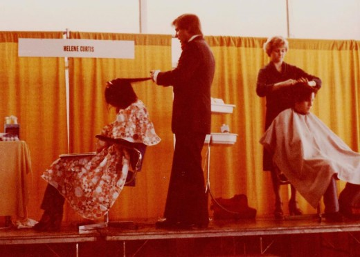 Helene Curtis Booth at a Hair Convention in Orlando FL