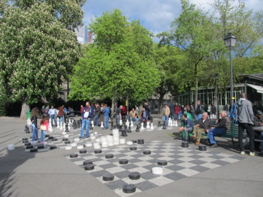 Chess in Parc des Bastions
