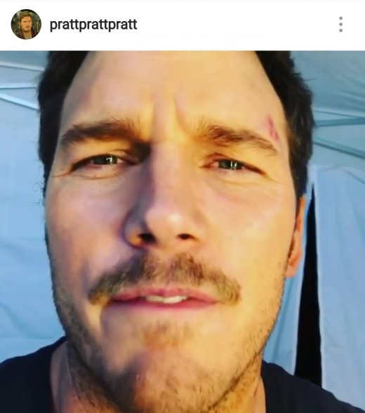 Chris Pratt's Instagram is @prattprattpratt