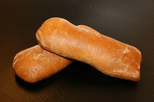 Loaves of ciabatta
