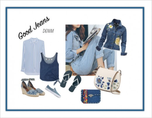 Denim blue is so easy to wear. The great thing it does not crease too easily.