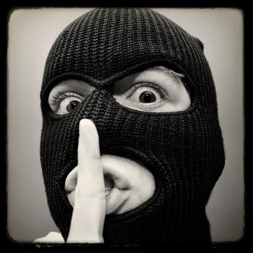 Retro photo of thug.