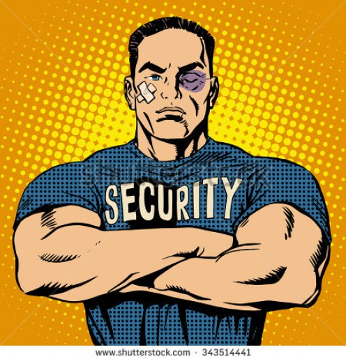This is one tough hombre who knows how to handle a security assignment.