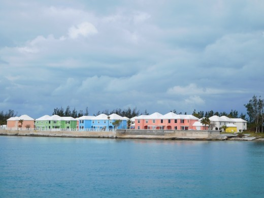 Beautifully colored homes in Bermuda