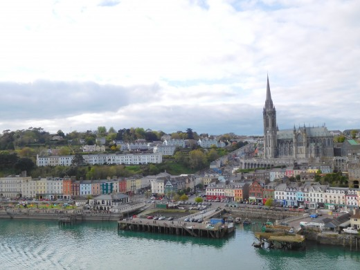 The port town of Cobh, Ireland.