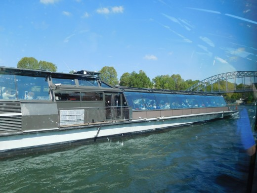 Glass windowed boat that we took for a luncheon ride on the Seine River.