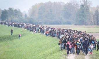 There are a lot of refugees that run away from the wars in the Middle East. Most times they walk from place to place. Sometimes they are blocked from the country they are entering. Then they become a problem. So, refugees are a problem where thy go.