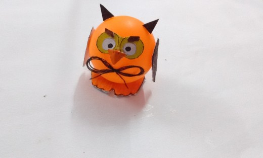 There you go, your craft owl is complete.