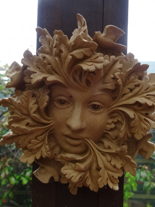 A common reproduction of  the Green Man.