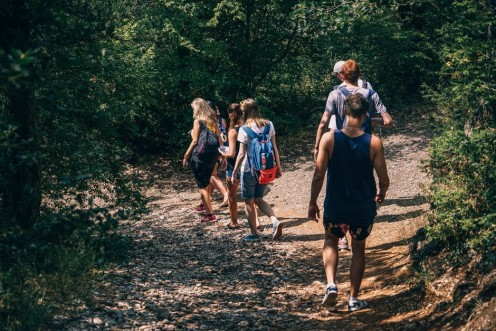Hiking is a great way for camping families to bond with family members.