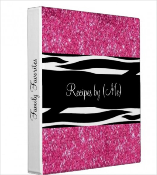 Love this graphic art in a zebra pattern on a pink glitter background.