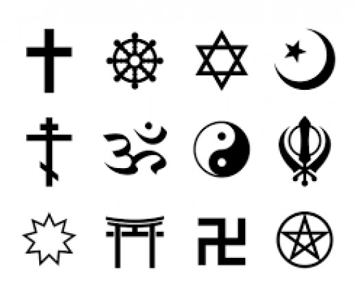With a wide array of religions, there's an even larger pool of religious symbols, or if you prefer symbols of power.