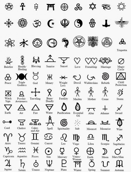 An example, or rather many, of older symbols. Of course there are more.