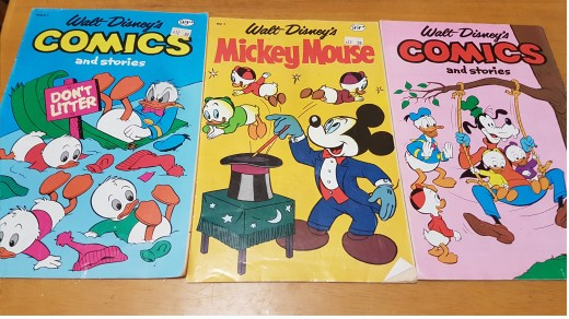 Selection of Disney comic books
