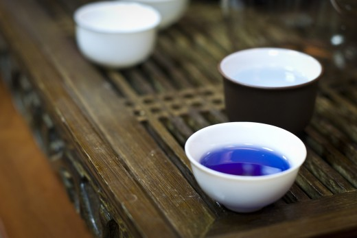 Blue tea, made from the Clitoria plant, is a flavorful tisane and an acceptable beverage for those suffering from adrenal fatigue.