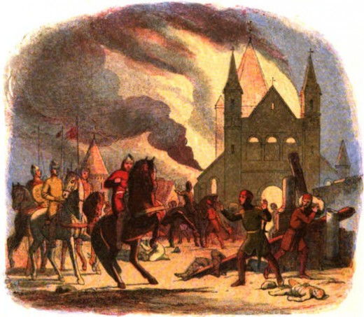 In the inferno William's horse shied. He was thrown forward onto the pommel and sustained a fatal injury to his spleen...