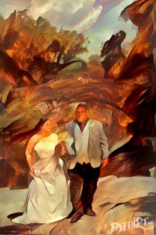 Wedding Photography Transformed into Digital Art by DeepArt.io