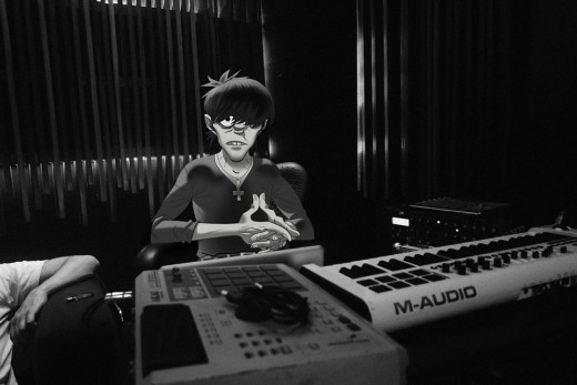Murdoc Niccals from Gorillaz in the studio.