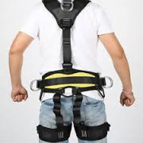 A climbing harness is your best friend when climbing because it has your back at all times.