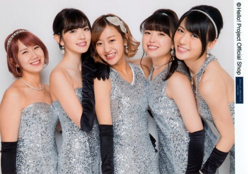 An awesome photo of the group! My favorite member Chisato Okai is at the far left.