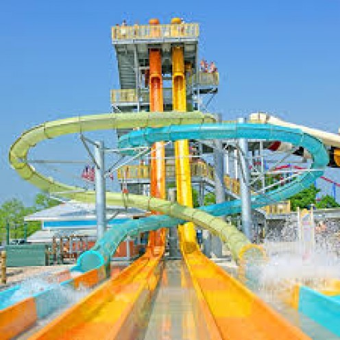 Raging Rivers WaterPark covers over four acres and it opened to the public in 2009.