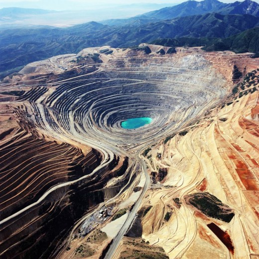 Kennecott Copper Mine in Salt Lake Valley
