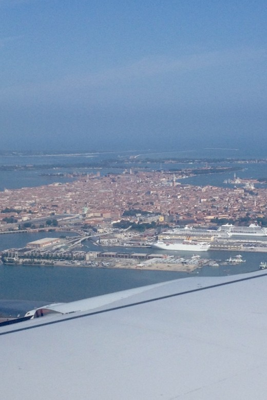 View of Venice from an Airplane