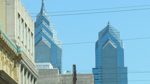 Skyline of Philadelphia as we approached the city for the Drafts.